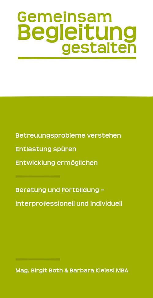 "Cover des Folders ""Gemeinsam Begleitung gestalten"""